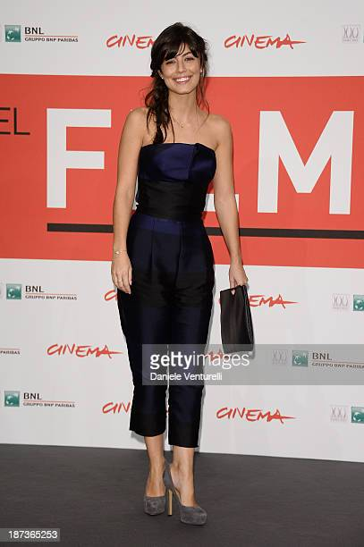 Actress Alessandra Mastronardi attends the 'L'Ultima Ruota Del Carro' Photocall during the 8th Rome Film Festival at the Auditorium Parco Della...