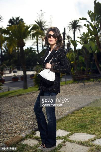 Actress Alessandra Mastronardi poses for a portrait session during the 67' Festival di Sanremo 2017 on February 11 2017 in Sanremo Italy