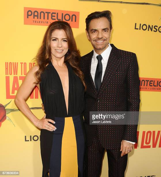Actress Alessandra Rosaldo and actor Eugenio Derbez attend the premiere of 'How to Be a Latin Lover' at ArcLight Cinemas Cinerama Dome on April 26...