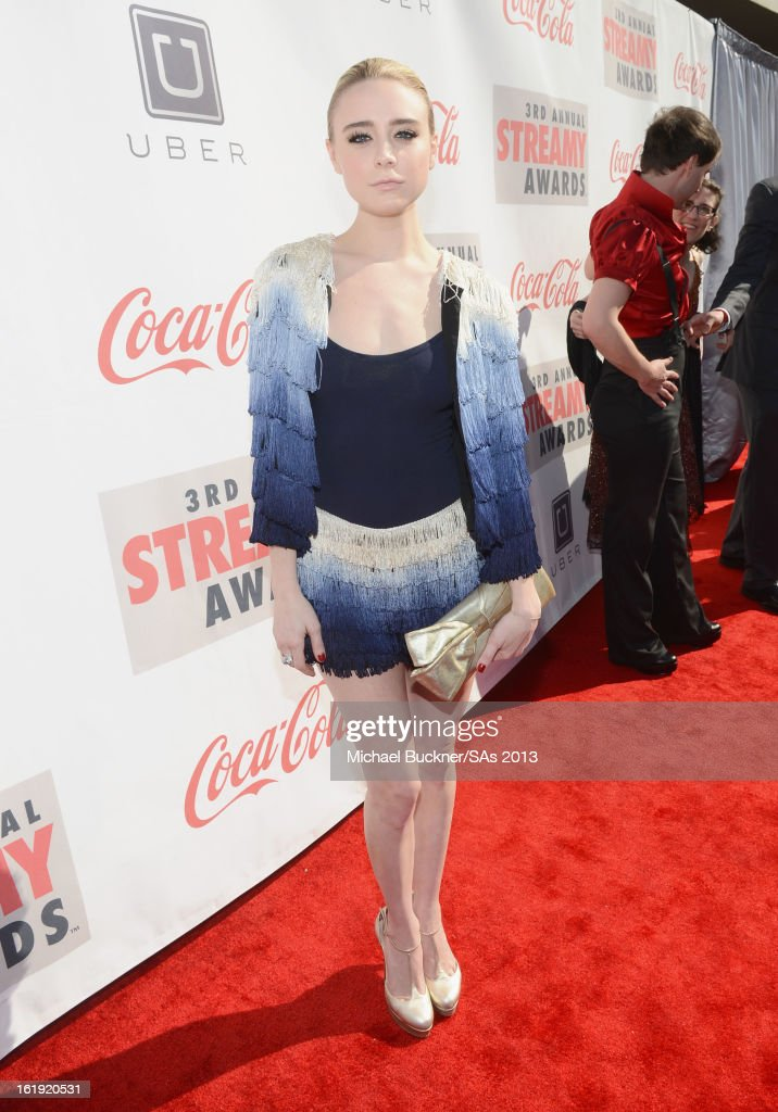 Actress Alessandra Torresani attends the 3rd Annual Streamy Awards at Hollywood Palladium on February 17, 2013 in Hollywood, California.