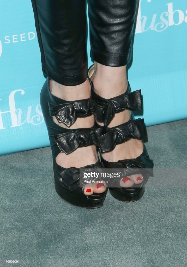 Actress Alessandra Torressani (Shoe Detail) attends the premiere of 'Husbands' at The Paley Center for Media on August 14, 2013 in Beverly Hills, California.