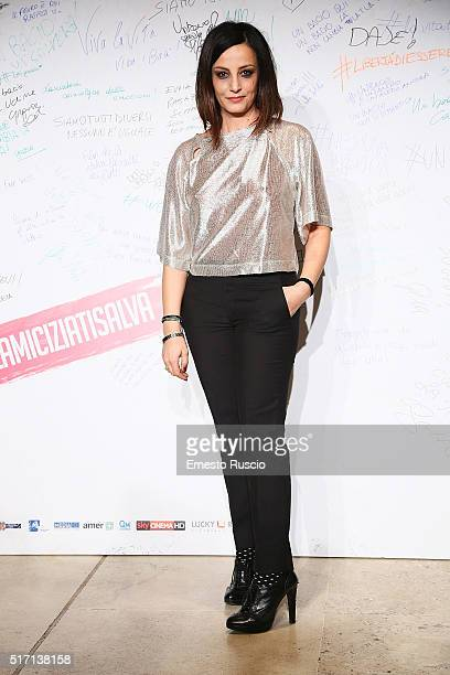 Actress Alessia Barela attends 'Un Bacio' Premiere at Auditorium Parco Della Musica on March 23 2016 in Rome Italy