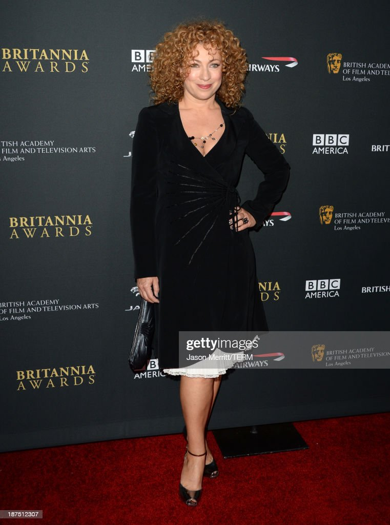 Actress <a gi-track='captionPersonalityLinkClicked' href=/galleries/search?phrase=Alex+Kingston&family=editorial&specificpeople=225030 ng-click='$event.stopPropagation()'>Alex Kingston</a> attends the 2013 BAFTA LA Jaguar Britannia Awards presented by BBC America at The Beverly Hilton Hotel on November 9, 2013 in Beverly Hills, California.
