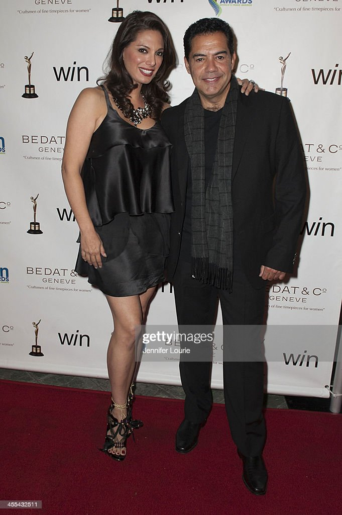 Actress <a gi-track='captionPersonalityLinkClicked' href=/galleries/search?phrase=Alex+Meneses&family=editorial&specificpeople=837191 ng-click='$event.stopPropagation()'>Alex Meneses</a> and actor Carlos Gomez arrive at the annual 2013 Women's Image Awards at Santa Monica Bay Woman's Club on December 11, 2013 in Santa Monica, California.