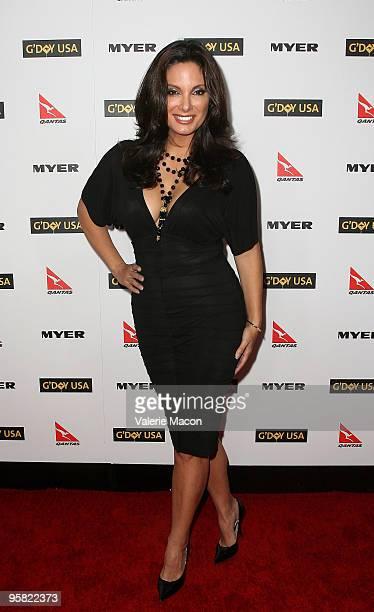 Actress Alex Meneses arrives at the Australia Week 2010 Black Tie Gala on January 16 2010 in Los Angeles California