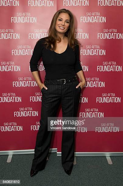 Actress Alex Meneses attends SAGAFTRA Foundation Conversations for 'Telenovela' at SAGAFTRA Foundation on June 15 2016 in Los Angeles California