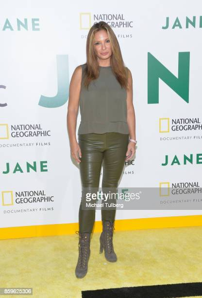 Actress Alex Meneses attends the premiere of National Geographic Documentary Films' 'Jane' at the Hollywood Bowl on October 9 2017 in Hollywood...