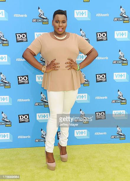 Actress Alex Newell arrives at the DoSomethingorg and VH1's 2013 Do Something Awards at Avalon on July 31 2013 in Hollywood California