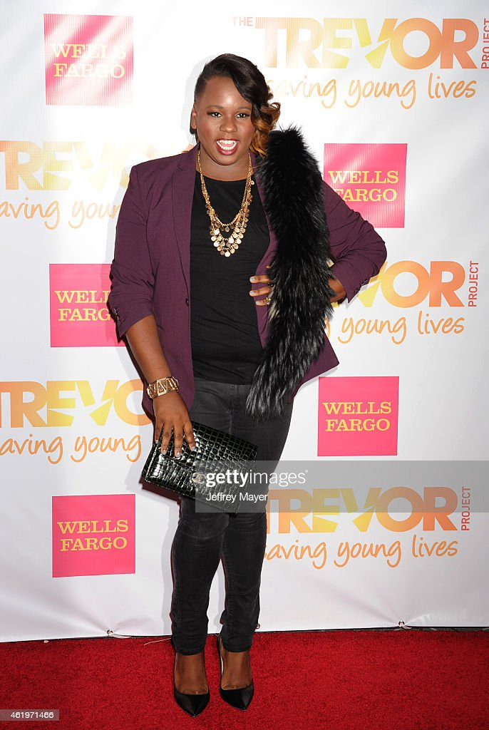 Actress Alex Newell arrives at TrevorLIVE Los Angeles at Hollywood Palladium on December 7 2014 in Los Angeles California