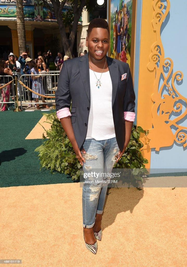 Actress Alex Newell attends the premiere of 'Legends Of Oz Dorthy's Return' at Regency Village Theatre on May 3 2014 in Westwood California