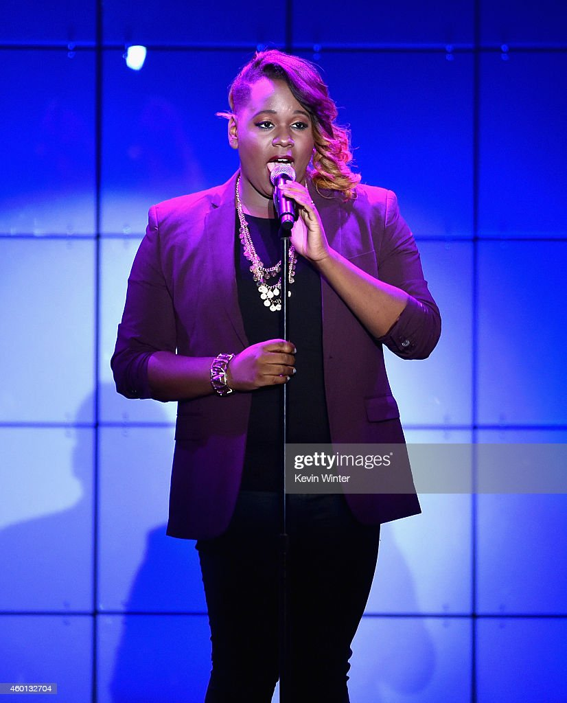 Actress Alex Newell performs onstage during 'TrevorLIVE LA' Honoring Robert Greenblatt Yahoo and Skylar Kergil for The Trevor Project presented by...