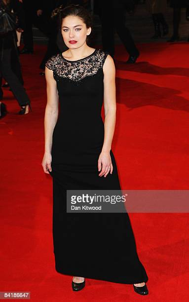Actress Alexa Davalos arrives at the European Premiere of 'Defiance' at the Odeon West End cinema Leicester Square on January 6 2009 in London England