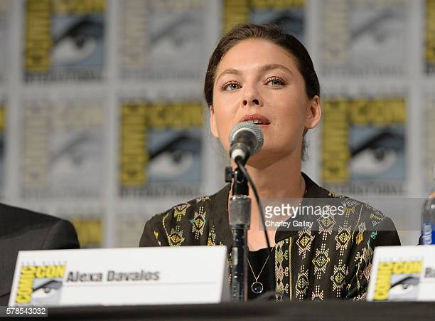 Actress Alexa Davalos attends Amazon Original Series 'The Man in the High Castle' panel and signing during San Diego ComicCon at San Diego Convention...
