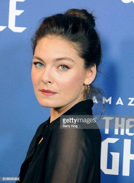 Actress Alexa Davalos attends the premiere of Amazon's 'Man In The High Castle' at Pacific Design Center on December 8 2016 in West Hollywood...