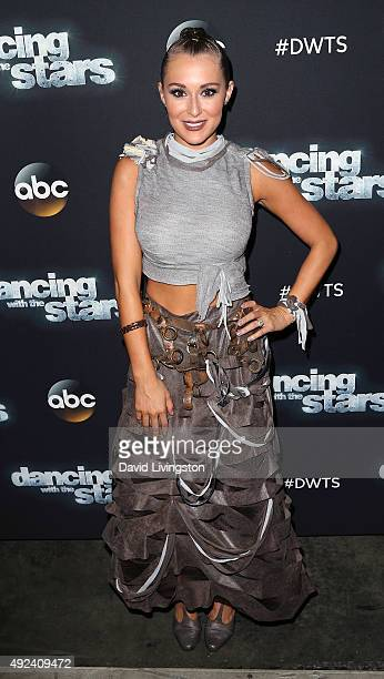 Actress Alexa PenaVega attends 'Dancing with the Stars' Season 21 at CBS Televison City on October 12 2015 in Los Angeles California