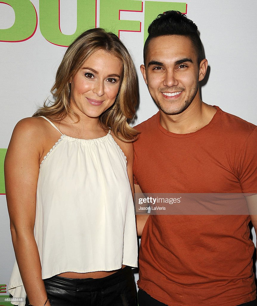 Actress Alexa Vega and actor Carlos Pena Jr attend the premiere of 'The Duff' at TCL Chinese 6 Theatres on February 12 2015 in Hollywood California