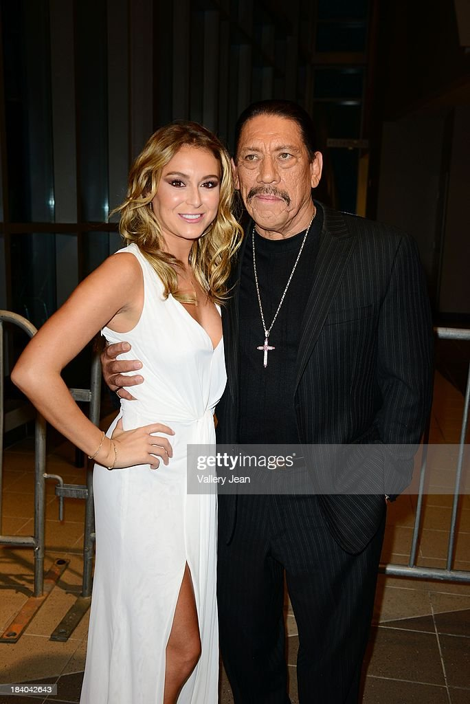 Actress Alexa Vega and actor <a gi-track='captionPersonalityLinkClicked' href=/galleries/search?phrase=Danny+Trejo&family=editorial&specificpeople=2187220 ng-click='$event.stopPropagation()'>Danny Trejo</a> attend 'Machete Kills' red carpet premiere at Regal South Beach on October 10, 2013 in Miami, Florida.