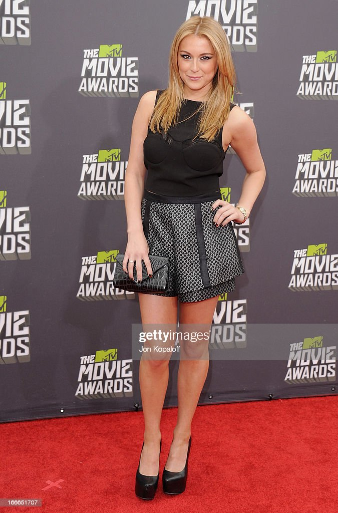 Actress Alexa Vega arrives at the 2013 MTV Movie Awards at Sony Pictures Studios on April 14, 2013 in Culver City, California.
