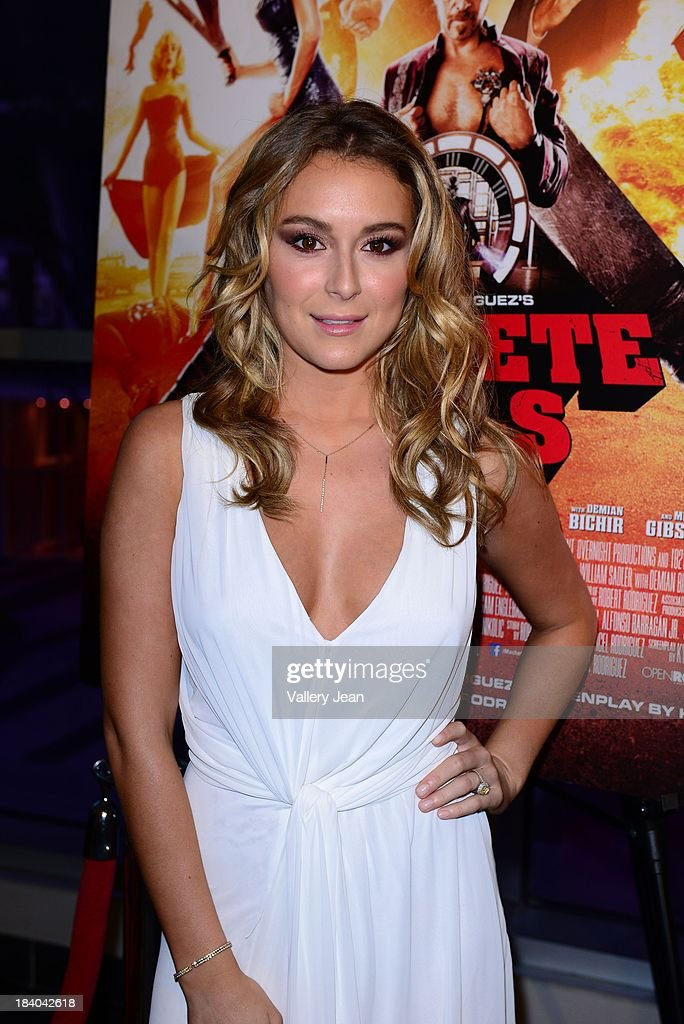 Actress Alexa Vega attends 'Machete Kills' red carpet premiere at Regal South Beach on October 10, 2013 in Miami, Florida.
