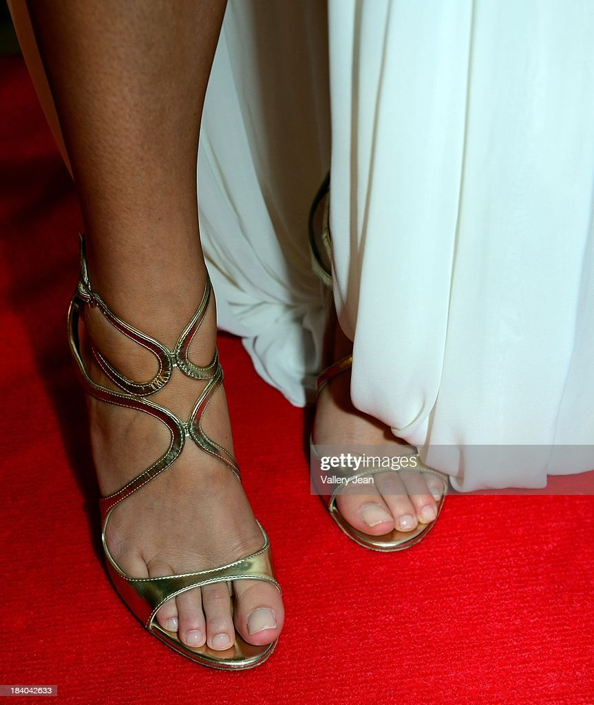 Actress Alexa Vega (shoe detail) attends 'Machete Kills' red carpet premiere at Regal South Beach on October 10, 2013 in Miami, Florida.