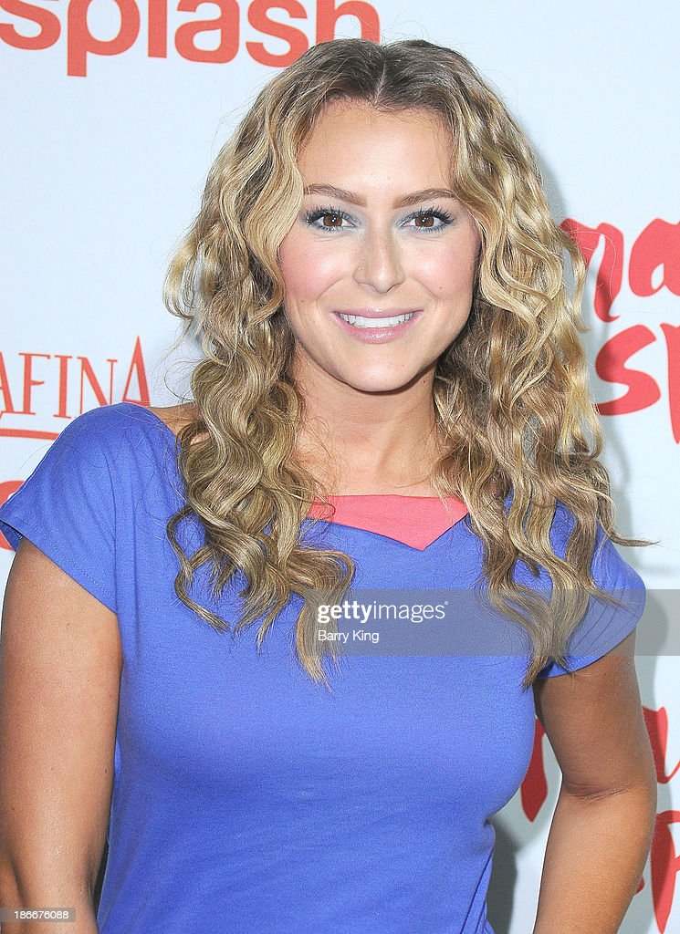 Actress Alexa Vega attends the Aquafina FlavorSplash Launch on October 15, 2013 at Sony Pictures Studios in Culver City, California.