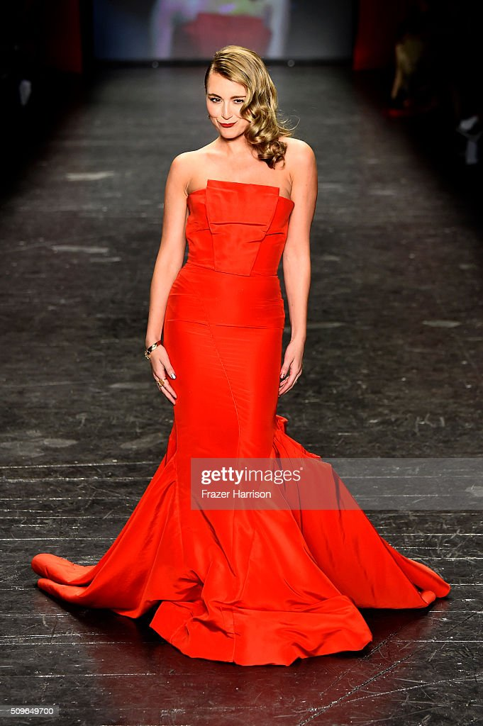 Actress Alexa Vega walks the runway at The American Heart Association's Go Red For Women Red Dress Collection 2016 Presented By Macy's at The Arc...