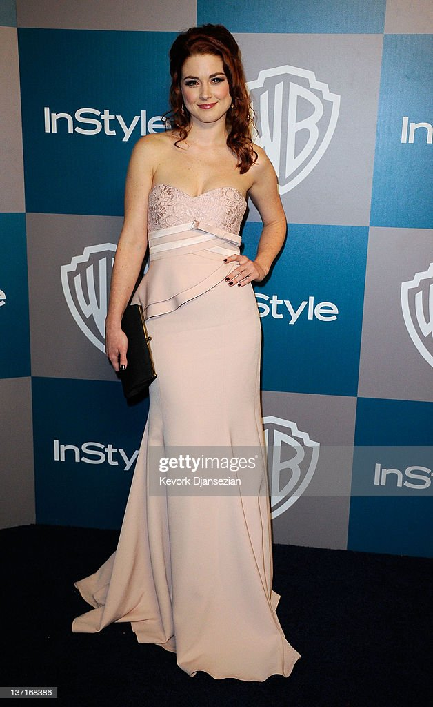 Actress Alexandra Breckenridge arrives at 13th Annual Warner Bros. And InStyle Golden Globe Awards After Party at The Beverly Hilton hotel on January 15, 2012 in Beverly Hills, California.