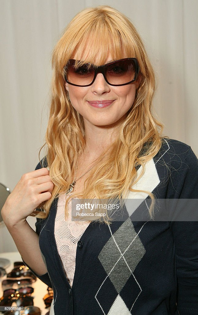 Actress Alexandra Breckenridge poses with the Beryll Eyewear display during the HBO Luxury Lounge in honor of the 60th annual Primetime Emmy Awards featuring the In Style diamond suite, held at the Four Seasons Hotel on September 21, 2008 in Beverly Hills, California.