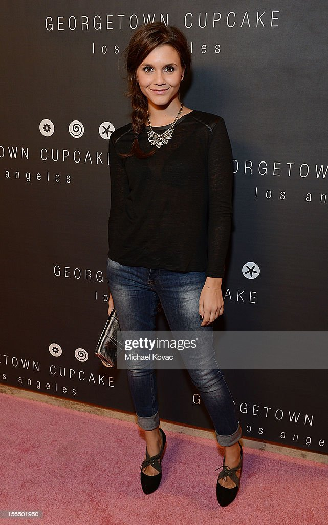 Actress Alexandra Chando attends the Los Angeles Grand Opening of Georgetown Cupcake Los Angeles on November 15, 2012 in Los Angeles, California.