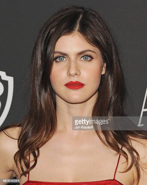 Actress Alexandra Daddario arrives at the 16th Annual Warner Bros And InStyle PostGolden Globe Party at The Beverly Hilton Hotel on January 11 2015...
