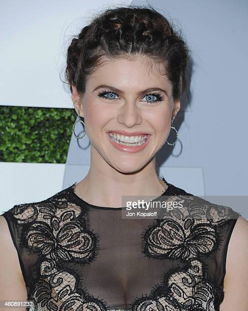 Actress Alexandra Daddario arrives at the 2014 GQ Men Of The Year Party at Chateau Marmont on December 4 2014 in Los Angeles California