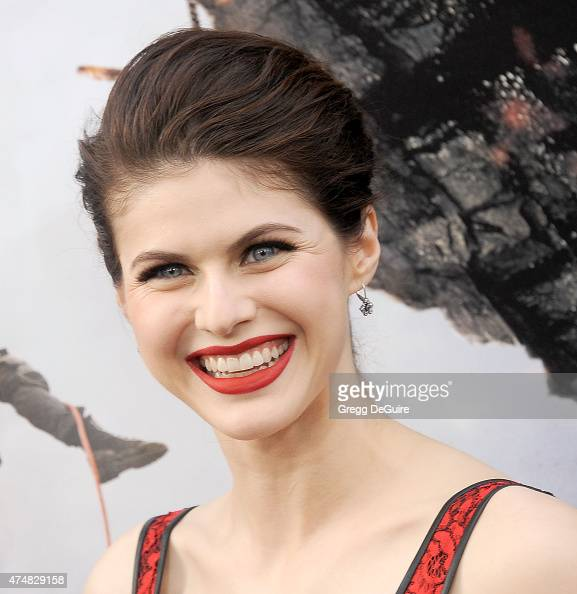 Actress Alexandra Daddario arrives at the Los Angeles premiere of 'San Andreas' at TCL Chinese Theatre IMAX on May 26 2015 in Hollywood California