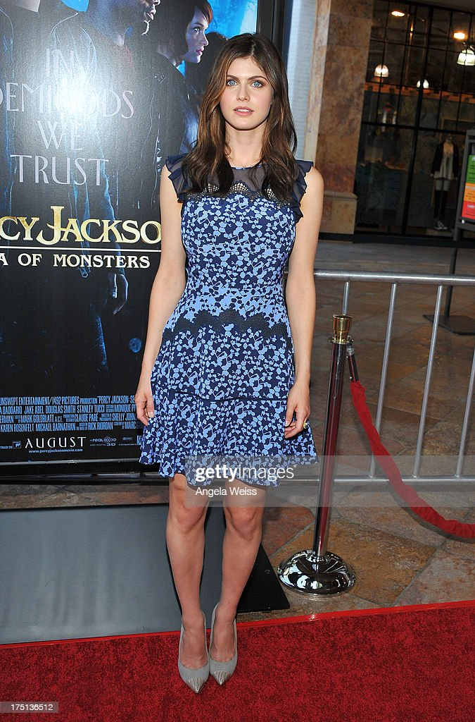 Actress Alexandra Daddario arrives at the premiere of 'Percy Jackson: Sea Of Monsters' at The Americana at Brand on July 31, 2013 in Glendale, California.