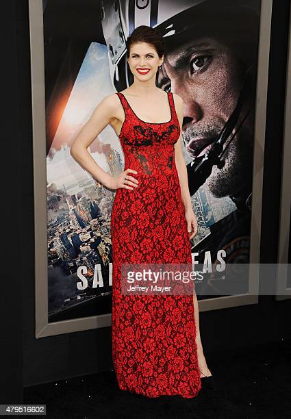 Actress Alexandra Daddario arrives at the 'San Andreas' Los Angeles Premiere at TCL Chinese Theatre IMAX on May 26 2015 in Hollywood California