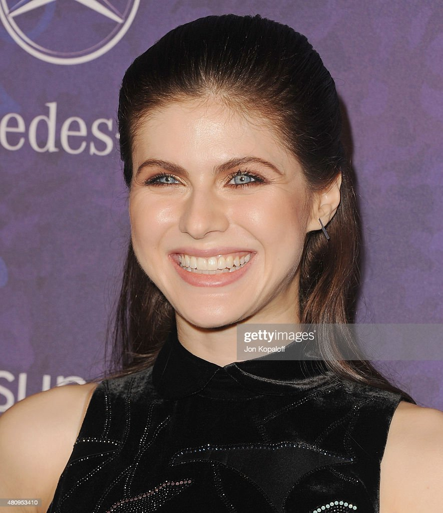 Actress <a gi-track='captionPersonalityLinkClicked' href=/galleries/search?phrase=Alexandra+Daddario&family=editorial&specificpeople=5679721 ng-click='$event.stopPropagation()'>Alexandra Daddario</a> arrives at Variety And Women In Film Annual Pre-Emmy Celebration at Gracias Madre on August 23, 2014 in West Hollywood, California.