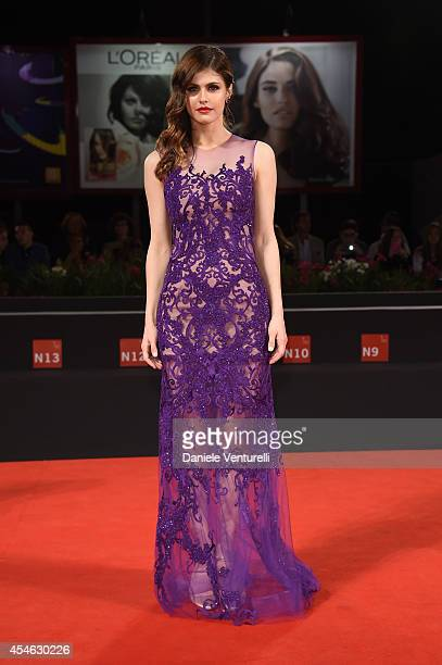 Actress Alexandra Daddario attends 'Burying The Ex' Premiere during the 71st Venice Film Festival at Sala Grande on September 4 2014 in Venice Italy