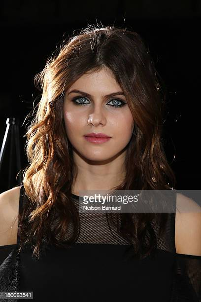 Actress Alexandra Daddario attends DKNY Women's fashion show during MercedesBenz Fashion Week Spring 2014 on September 8 2013 in New York City