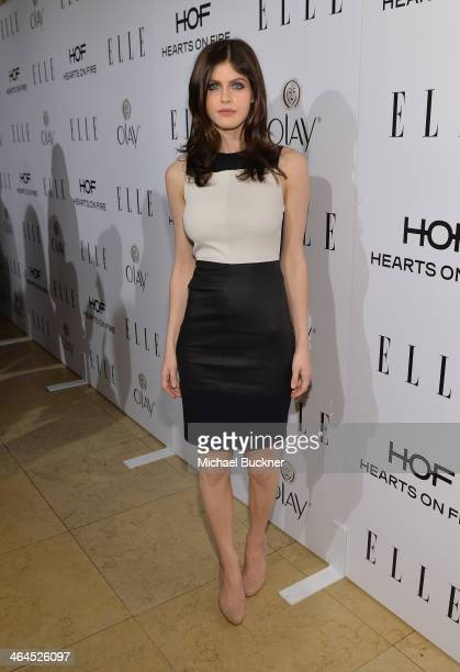 Actress Alexandra Daddario attends ELLE's Annual Women in Television Celebration on January 22 2014 in West Hollywood California