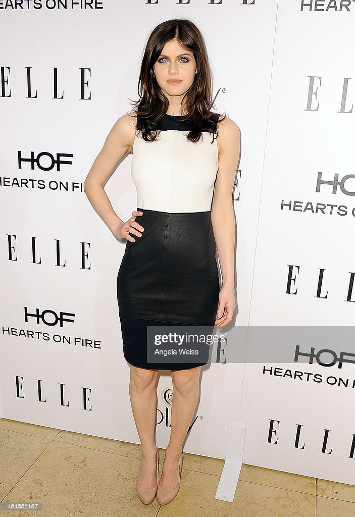 Actress Alexandra Daddario attends ELLE's Annual Women in Television Celebration at Sunset Tower on January 22, 2014 in West Hollywood, California.