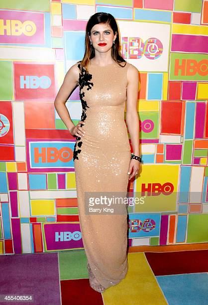 Actress Alexandra Daddario attends HBO's 2014 Emmy after party at The Plaza at the Pacific Design Center on August 25 2014 in Los Angeles California
