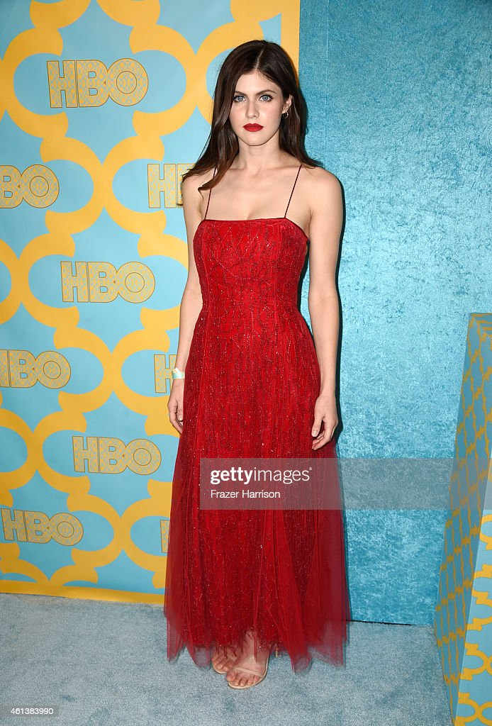 Actress Alexandra Daddario attends HBO's Post 2015 Golden Globe Awards Party at Circa 55 Restaurant on January 11 2015 in Los Angeles California