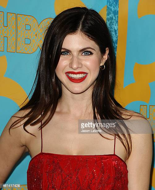 Actress Alexandra Daddario attends HBO's post Golden Globe Awards party at The Beverly Hilton Hotel on January 11 2015 in Beverly Hills California