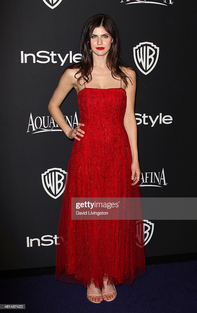 Actress Alexandra Daddario attends the 2015 InStyle and Warner Bros. 72nd Annual Golden Globe Awards Post-Party at The Beverly Hilton Hotel on January 11, 2015 in Beverly Hills, California.
