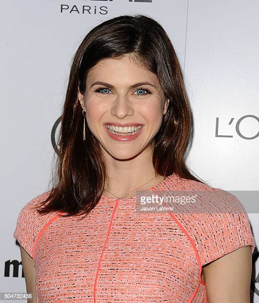 Actress Alexandra Daddario attends the 2016 Marie Claire Image Maker Awards at Chateau Marmont on January 12 2016 in Los Angeles California