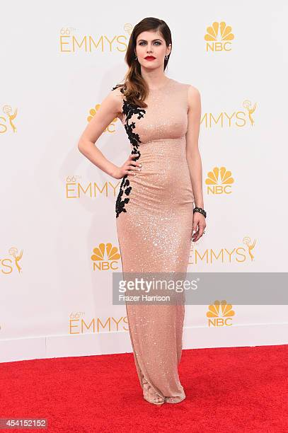 Actress Alexandra Daddario attends the 66th Annual Primetime Emmy Awards held at Nokia Theatre LA Live on August 25 2014 in Los Angeles California