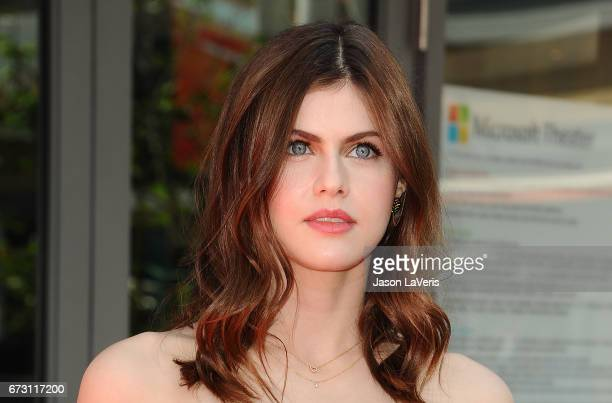 Actress Alexandra Daddario attends the 'Baywatch' SlowMo Marathon at Microsoft Square on April 22 2017 in Los Angeles California