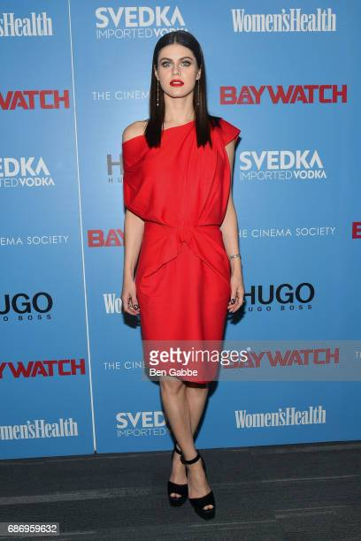 Actress Alexandra Daddario attends The Cinema Society Screening of 'Baywatch' at Landmark Sunshine Cinema on May 22 2017 in New York City