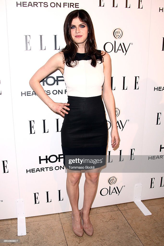 Actress Alexandra Daddario attends the ELLE Women In Television Celebration held at the Sunset Tower on January 22, 2014 in West Hollywood, California.