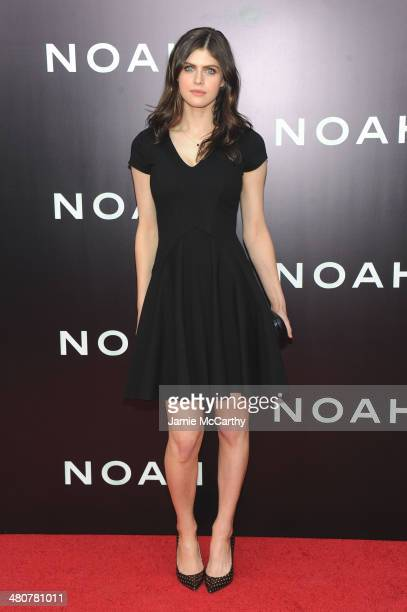 Actress Alexandra Daddario attends the 'Noah' New York premiere at Ziegfeld Theatre on March 26 2014 in New York City