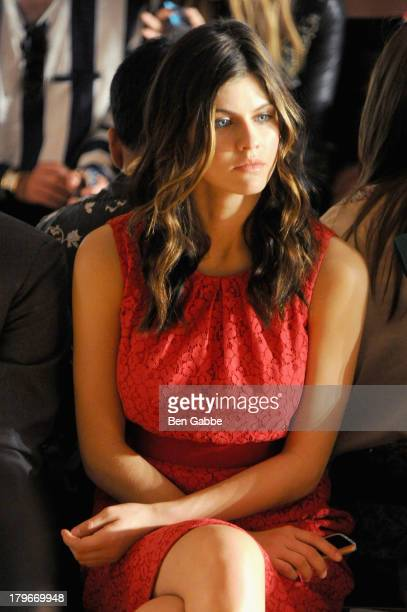 Actress Alexandra Daddario attends the Peter Som Spring 2014 fashion show during MercedesBenz Fashion Week at Milk Studios on September 6 2013 in New...